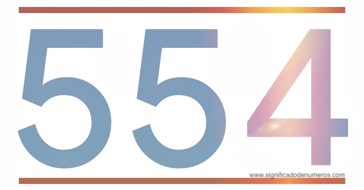 MEANING NUMBER 554